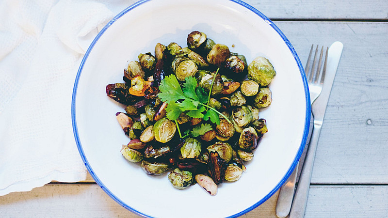 Brazil nut and brussels bake christmas recipe