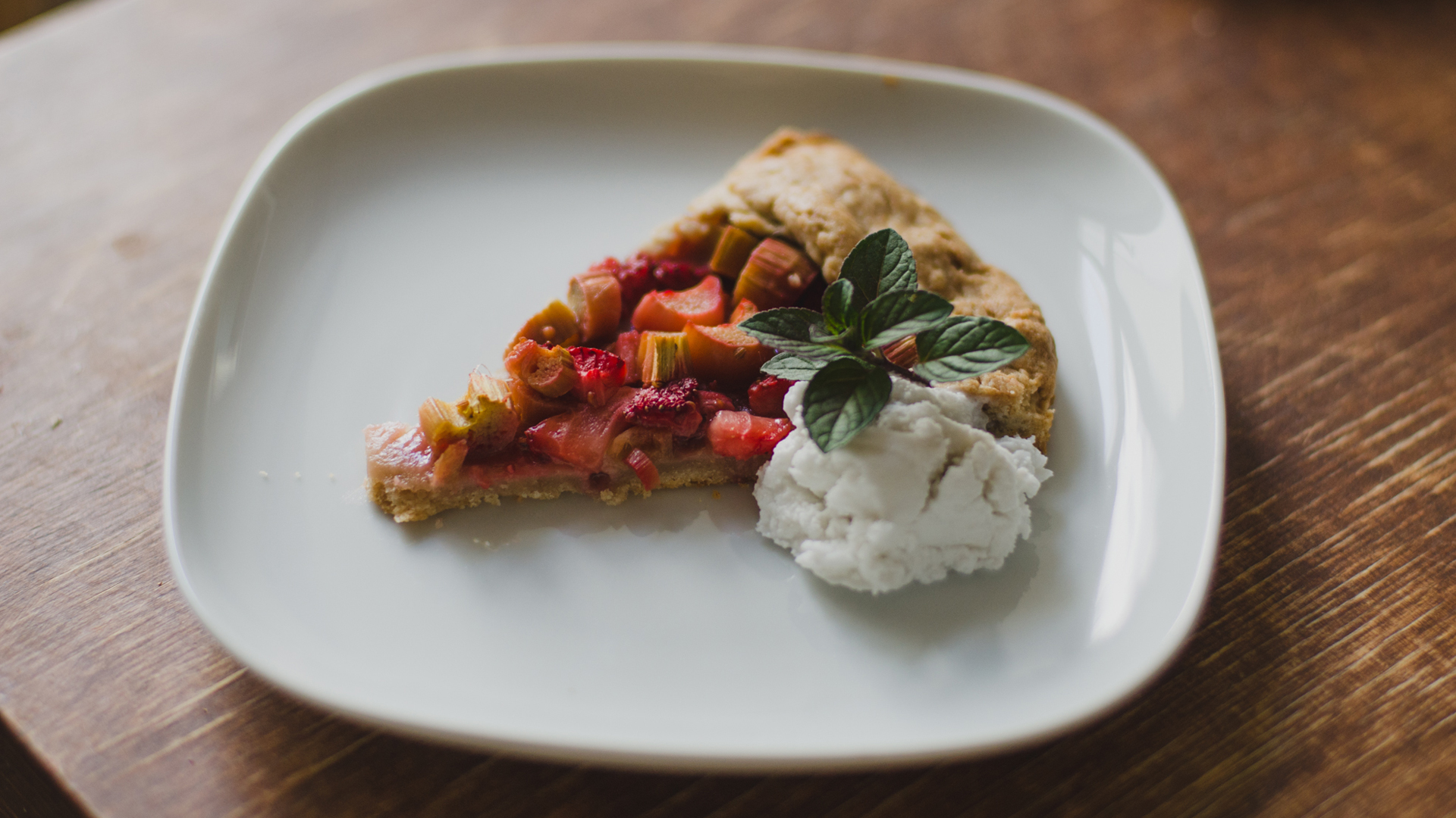 Isabella Paulsen prepares Fructopia's recipe for Rhubarb and Strawberry Galette.