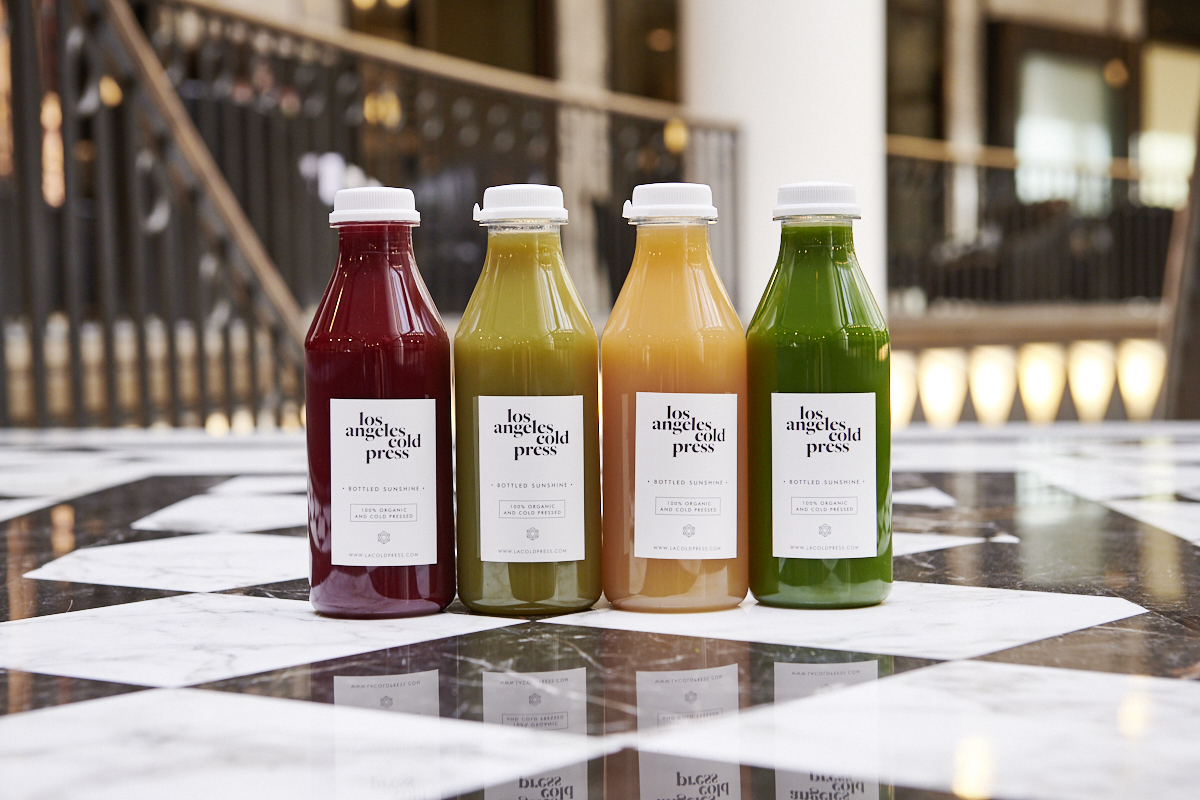 A selection of delicious juices from Berlin's LA Cold Press