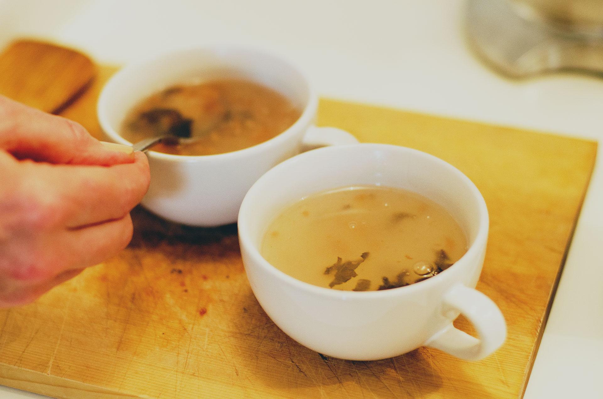 Sally-Ross-Clark-Preparing-Kuzu-recipe-with-umeboshi-plum
